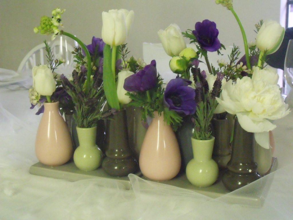 I centrotavola realizzati da Nibel - Atelier floreale