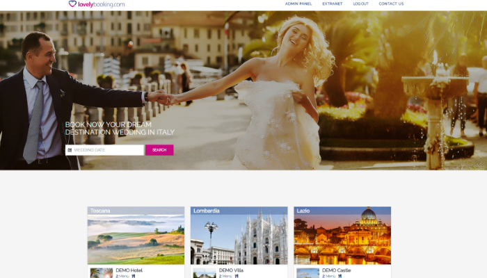 La home page di Lovelybooking