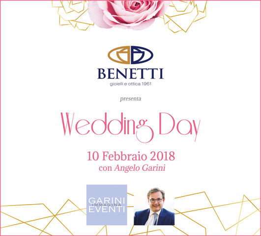 Save the date: Wedding Day con Angelo Garini a Verona